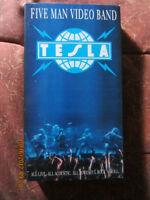 TESLA'S 'FIVE MAN VIDEO BAND' VHS