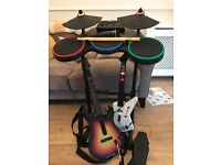 Xbox 360 Guitar Hero Bundle with Drum Kit