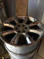 4 mags et pneus chrome 22 pouces CADILLAC ESCALADE