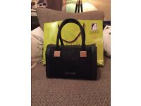 Gorgeous black leather Ted baker tote bag