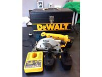 Dewalt 14.4v cordless saw.