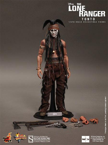 HOT TOYS DISNEY THE LONE RANGER TONTO Johnny Depp 1:6 FIGURE ~SEALED BROWN BOX~