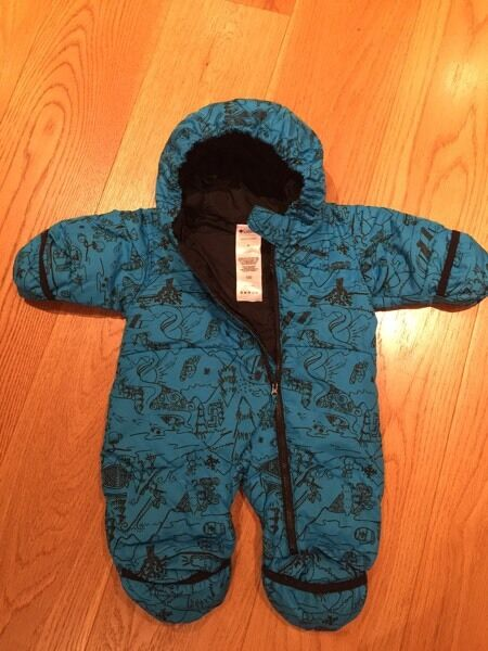 Columbia down snowsuit size 6 months - aqua