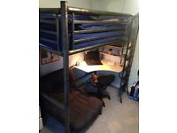 Metal high sleeper bed frame