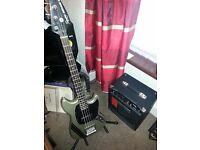 MCR Mikey Way Fender Squier Bass + Fender Rumble 15 watt
