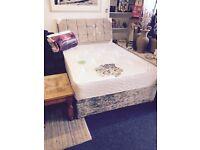 Crush velvet bed £190