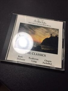Cd music disc, the classics Bach Beethoven Debussy Chopin Grieg