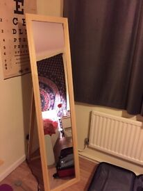 Home wooden full length cheval mirror