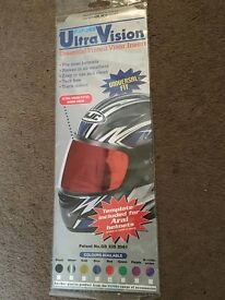 New Genuine OXFORD visor inserts - Ultra Vision Tinted inserts (1 x red / 1 x black)
