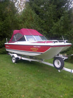 16ft Bow Rider for Sale with Trailer (many extras)