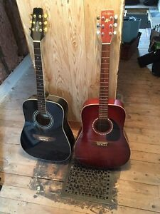 Two acoustic guitars for sale!