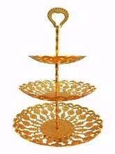 ROYAL GOLDEN BRASS CAKE STAND Greenacre Bankstown Area Preview