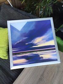 Striking modern seascape framed print (RRP £39.99)