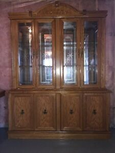 Glass Hutch with Dining Table Set for Sale Kitchener / Waterloo Kitchener Area image 1
