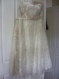 Brand New Monsoon Vintage style, Tea length wedding dress size 14