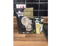 Brand new Tommee Tippee breast pump and express and go bottle