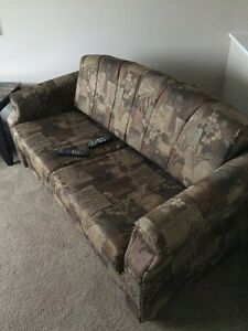 Leather couch loveseat, hideabed,
