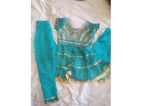 Girls Anarkali Frock and Churidar Outfit