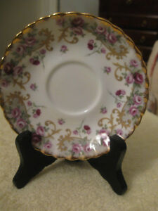 "THREE BEAUTIFUL VINTAGE BONE CHINA ""REPLACEMENT SAUCERS ONLY"