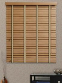 3x Wooden Venetian Blinds, Aspen Deluxe Grain - English Oak (taped, 5cm slats)