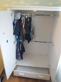 Nursery Furniture, Cot, wardrobe, changing unit