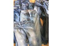 7 pairs of designer jeans