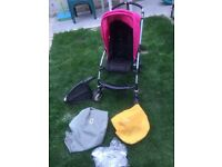 Bugga boo buggaboo bee stroller buggy pushchair with raincover buggy board 2 hoods