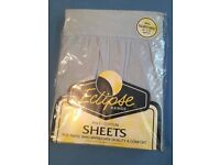 King Size Valance Sheets (light blue)