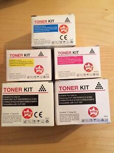 Selling unused toner cartridges compatible with Samsung CLP-300