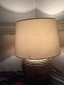 Lamp gold & cream cheap sale