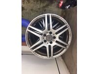 """Mercedes 18"""" genuine original Amg alloy wheel can post FRONT OR REAR AVAILABLE"""