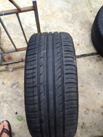 2 SUMMER TIRES 225 45 ZR 17 USED 1 SEASON 70.00$ EACH CHAQUE