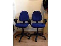 1 X Prism High Back Operator Asynchro Mechanism Office Chair Blue