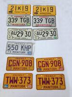 Vintage License Plates, Manitoba