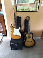 2 Guitars and the amp