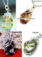 Pendantifs,bagues,pierres semi-précieuses,jade,quartz,agathe,