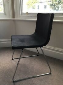6 x black upholstered IKEA dining chairs