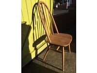 Set of 4 genuine Ercol chairs