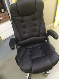 Leather /heated /massage office chair / brand new condition