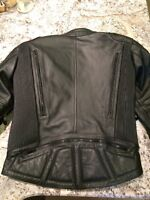 Womens HJC Motorcyle leather Jacket, size 44