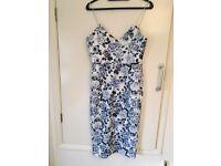 Blue size 10/12 floral dress