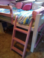 Loft Twin Bed (Pink & White)