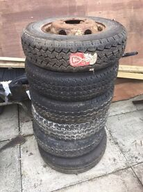 STEEL WHEELS AND TYRES FOR LDV