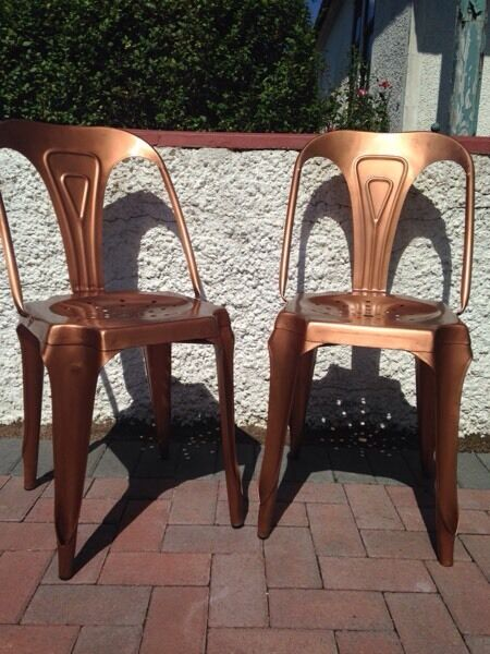 Graham and Green copper chairs