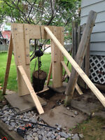 Home made hoist stand- as is or with modifications