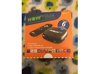 Now TV Box with six months entertainment pass new