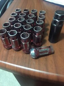 RED TUNER LUG NUTS 12x1.5mm