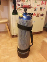 Catalina s80 scuba tank with paintball fill station