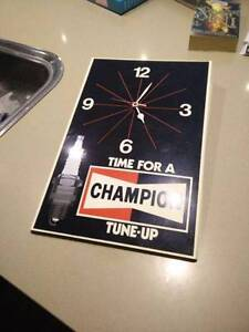 Champion spark plug advertising clock -petrol man cave Donvale Manningham Area Preview