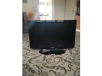 samsung le32r88bd tv with HDMI ports stand and remote control